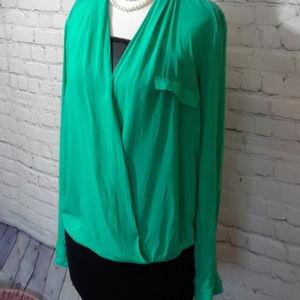 Zara Woman Wrap/Drape Blouse